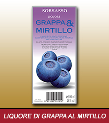 Liquore di grappa al mirtillo